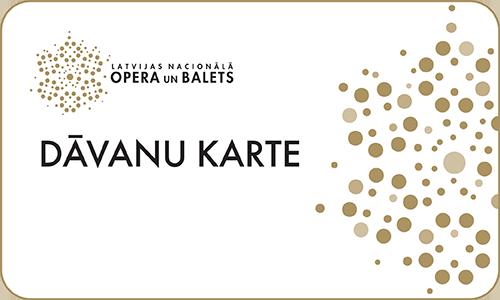 Latvijas Nacionālās Operas dāvanu karte